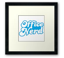 Office nerd Framed Print