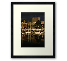 Wooden Boat Reflections #4 Framed Print