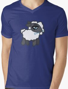 Knitting Sheep Mens V-Neck T-Shirt