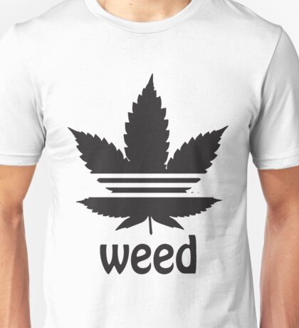 Free the Weed Cannabis Leaf Design Unisex T-Shirt