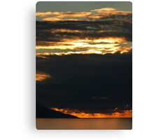november's sunset III - puesta del sol en noviembre Canvas Print