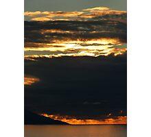 november's sunset III - puesta del sol en noviembre Photographic Print
