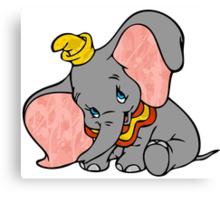 Splattered Dumbo Canvas Print