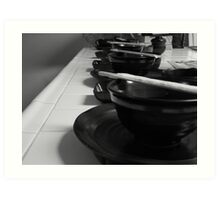 more dishes Art Print