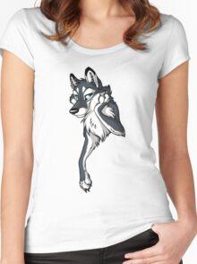 STUCK Wolf - Dark Grey Women's Fitted Scoop T-Shirt