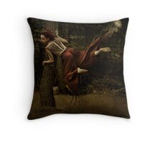 At the crossroad of choices Throw Pillow