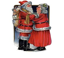 Vintage Mr and Mrs Claus Photographic Print