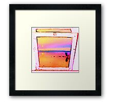 Beach Chair Sun Framed Print