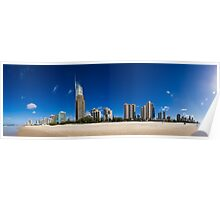 Surfers Paradise Pan Poster