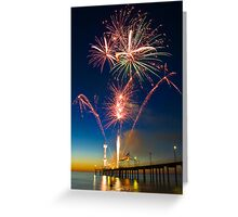 Fireworks at Brighton Greeting Card