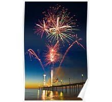 Fireworks at Brighton Poster
