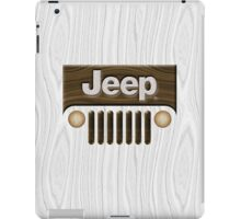 Jeep Willys ~ Wood [White] iPad Case/Skin