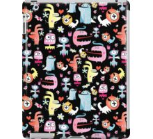 texture of funny monsters iPad Case/Skin