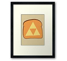 Triforce toast Framed Print