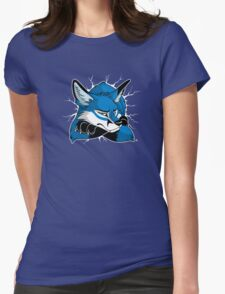 STUCK - Blue Fox Womens Fitted T-Shirt