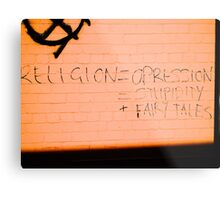 What is religion? Metal Print