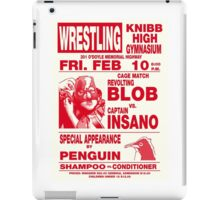 The Revolting Blob Wrestling Poster iPad Case/Skin