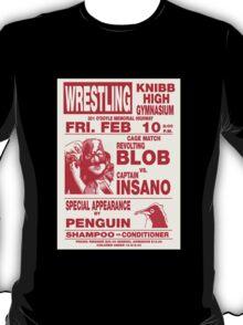 The Revolting Blob Wrestling Poster T-Shirt