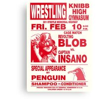 The Revolting Blob Wrestling Poster Metal Print