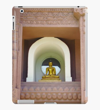 Temple Buddha meditating iPad Case/Skin