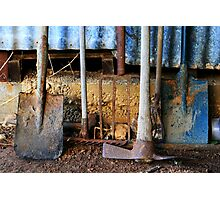 Farm Tools Photographic Print