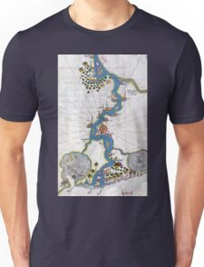 Piri Reis Map of the River Nile From its Estuary South Unisex T-Shirt