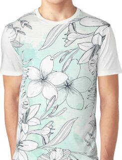 Floral Sketches Graphic T-Shirt