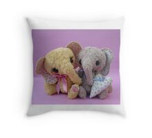 Elephant pair from Teddy Bear Orphans Throw Pillow
