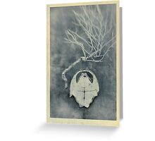 Tortoise Shell and Plant Skeleton Greeting Card