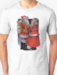 To Grandma and Granded Mr and Mrs Claus Christmas Card T-Shirt
