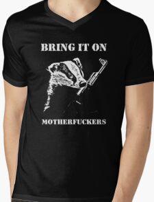Badger Fights Back Mens V-Neck T-Shirt