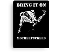 Badger Fights Back Canvas Print