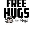 Free Hugs for Pugs Design by Cudge Art