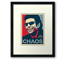 Ian Malcolm 'Chaos' T-Shirt Framed Print