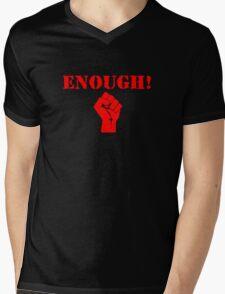 Enough! Mens V-Neck T-Shirt