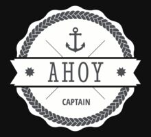 AHOY Captain Badge with anchor Kids Clothes