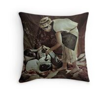 The thief of the magic lamp Throw Pillow