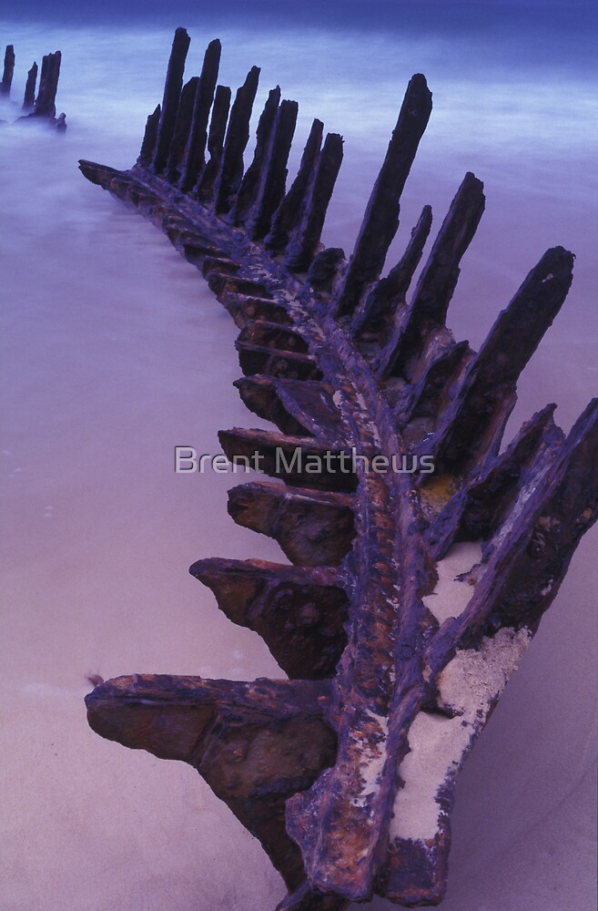 Skeleton of old by Brent Matthews