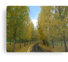 The Yellow Leaf Road Metal Print