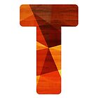 Letter T - Initial Wood by TabithaBianca
