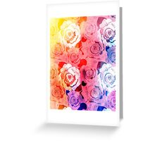 pattern of roses Greeting Card