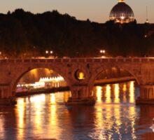 Tiber river in Rome Sticker