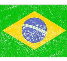 Distressed Brazil Flag by kwg2200