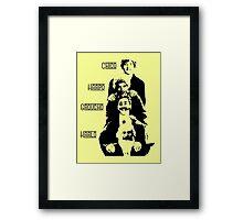 Communist Marx Brothers - Light background Framed Print