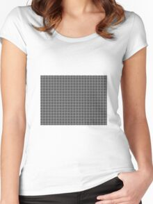 EXECUTIVE GREY PATTERN Women's Fitted Scoop T-Shirt