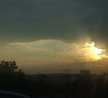 Sunrise on the highway. by Avinash