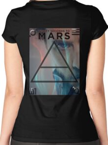 30 Seconds To Mars Poster Women's Fitted Scoop T-Shirt