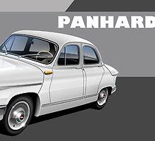 Panhard PL17 Illustrated Mug by RJWautographics