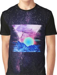 Cosmic Sunset Graphic T-Shirt