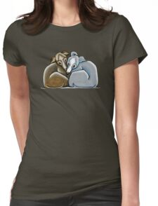 Italian Greyhound Huddle Womens Fitted T-Shirt